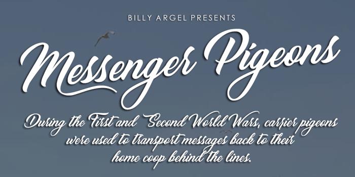 Messenger Pigeons Font poster