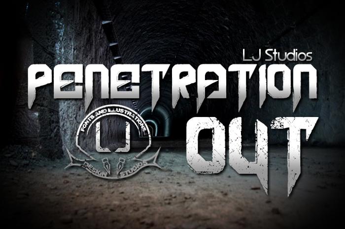 Penetration Out Font poster