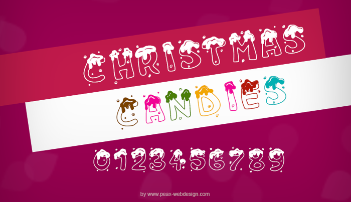 PW Christmas Candies Font poster