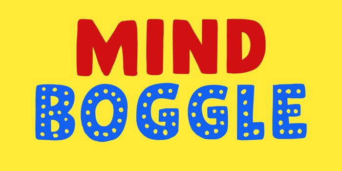 Mind Boggle Font poster