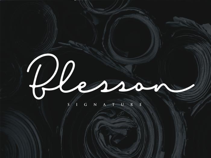 Blesson Font poster
