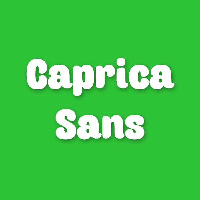 Caprica Sans Font poster