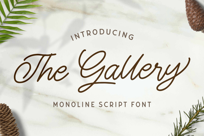 The Gallery Font poster