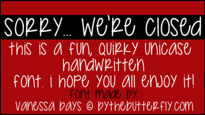Sorry... We're Closed Font poster