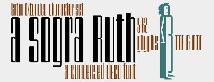 a sogra Ruth Font poster
