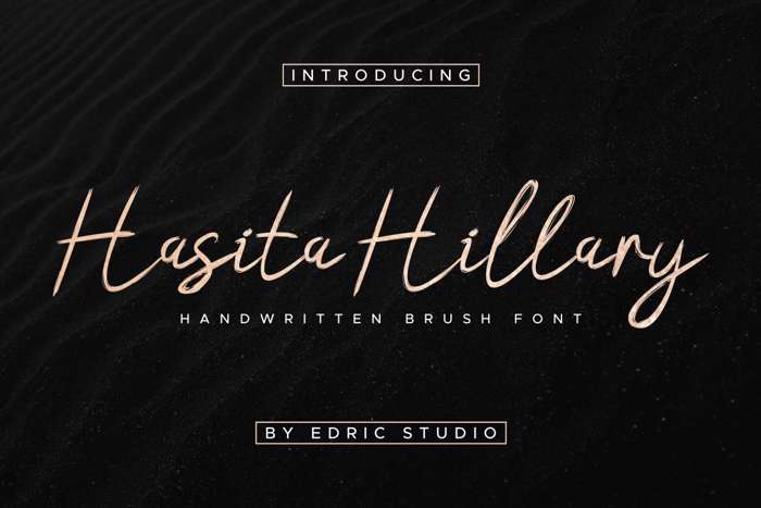 Hasita Hillary Demo Brush Font poster