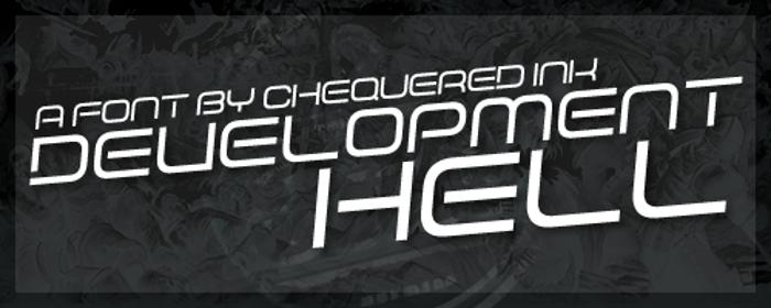 Development Hell Font poster