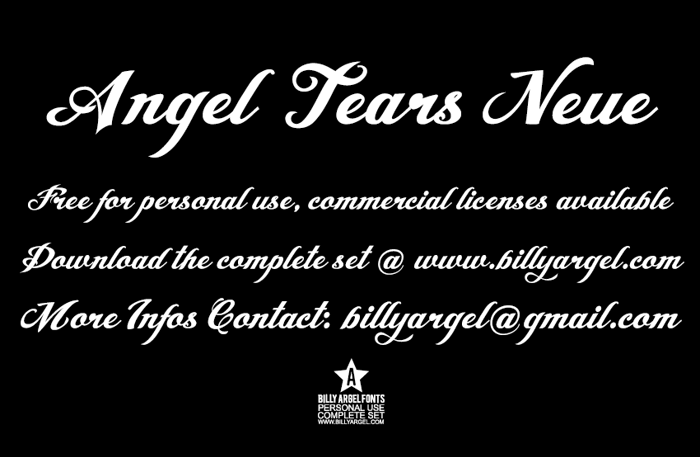 Angel Tears Neue Font poster