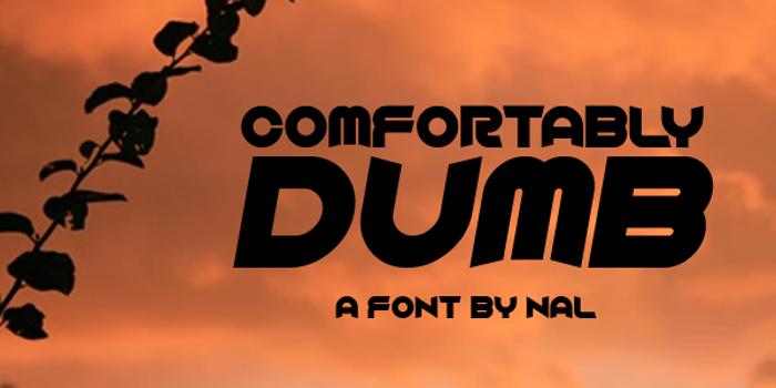 Comfortably Dumb poster