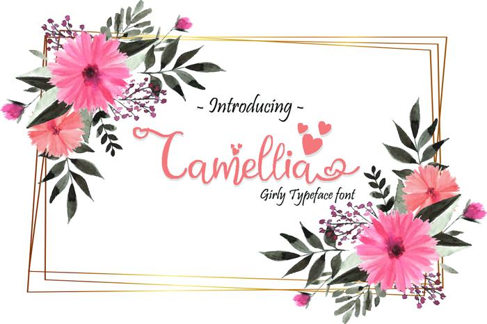 Camellia Font poster