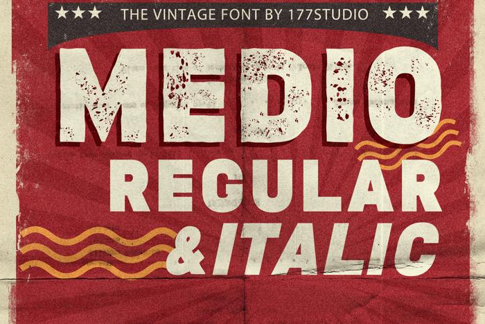 MEDIO VINTAGE Font poster