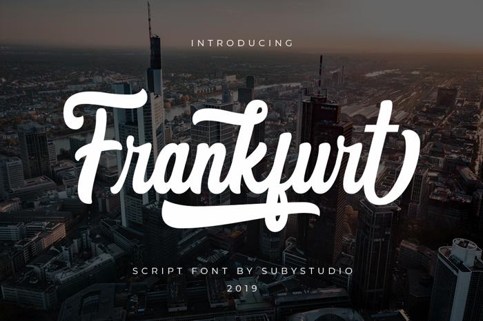 Frankfurt Font poster