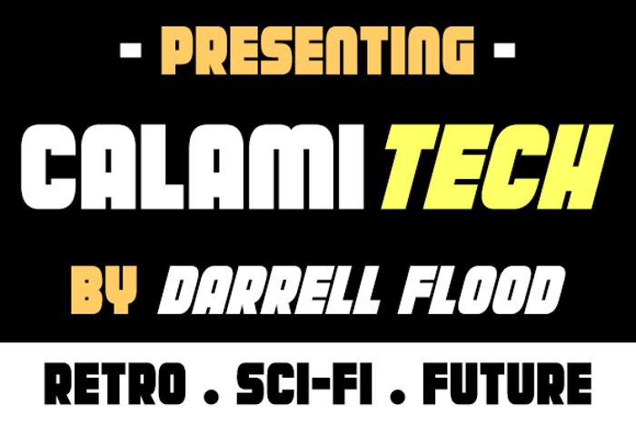 Calamitech Font poster