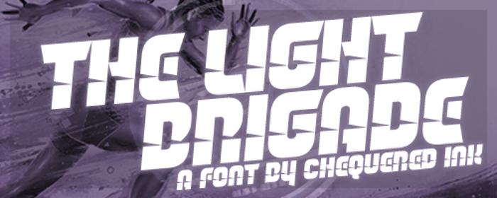 The Light Brigade Font poster