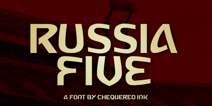 Russia Five Font poster