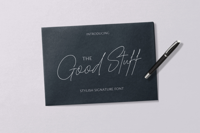 The Good Stuff Font poster