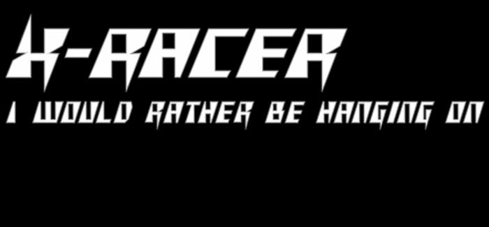 X - Racer Font poster