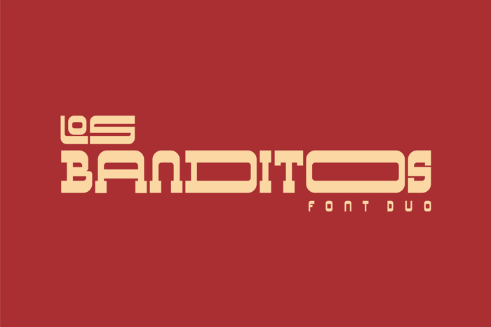 Los Banditos font duo poster