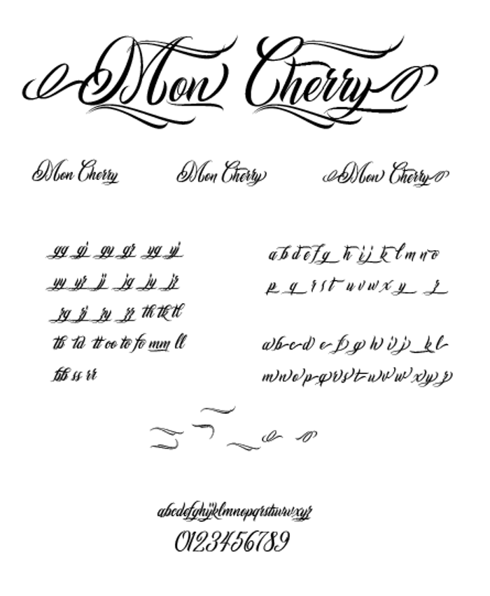 Mon Cherry Font poster