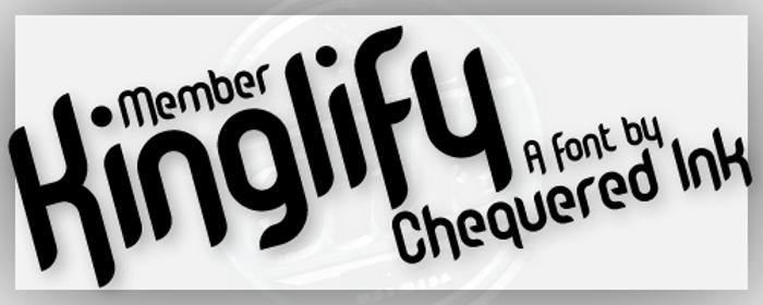 Member Kinglify Font poster