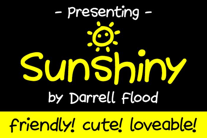 Sunshiny Font poster