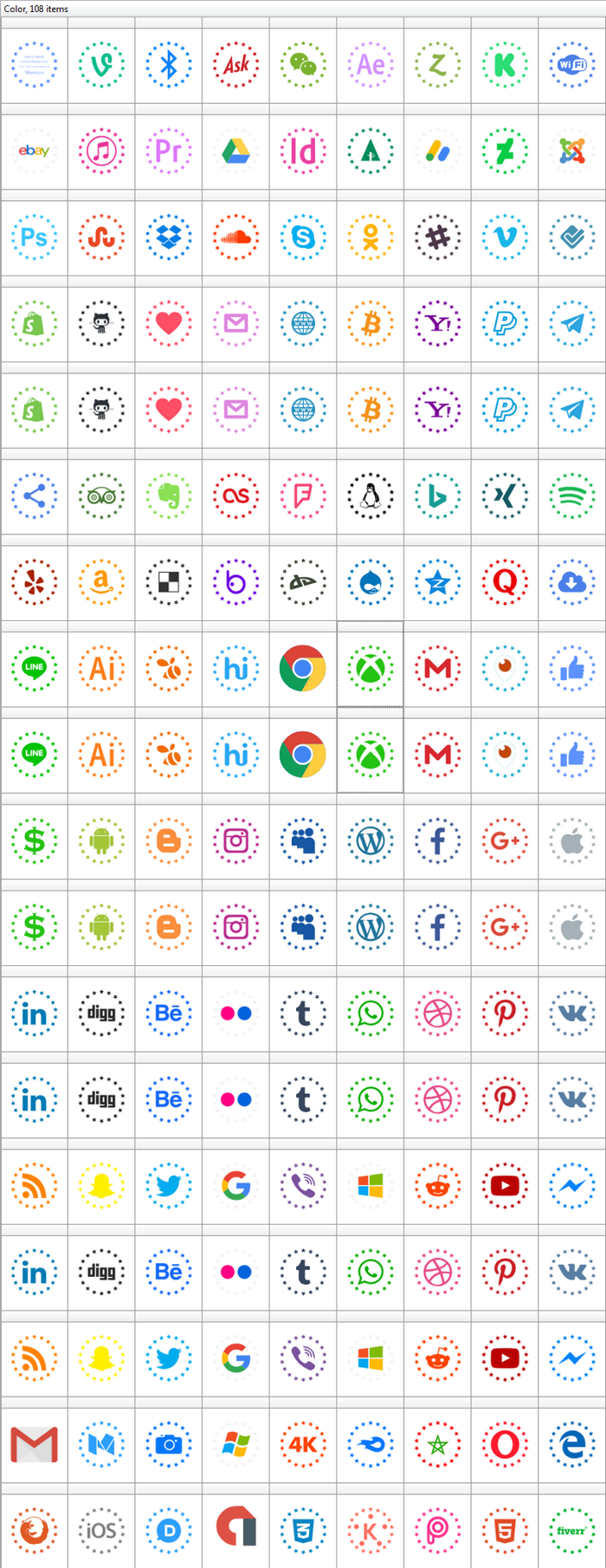 Type Icons Color Font poster