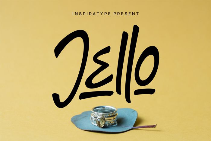 Jello Font poster