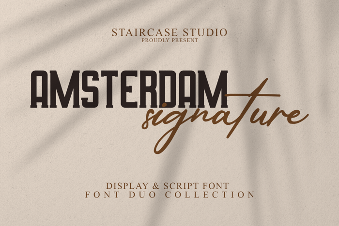 Amsterdam Signature Duo Font poster