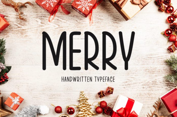 Merry Font poster