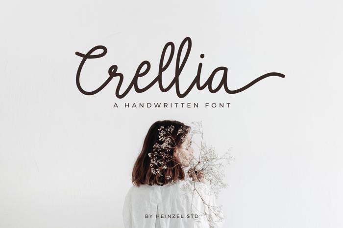 Crellia Font poster