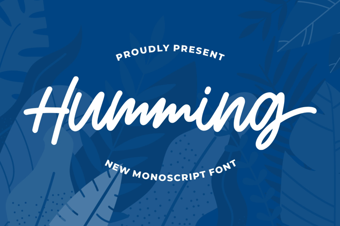Humming Font poster