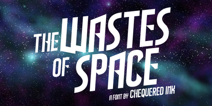 The Wastes of Space Font poster