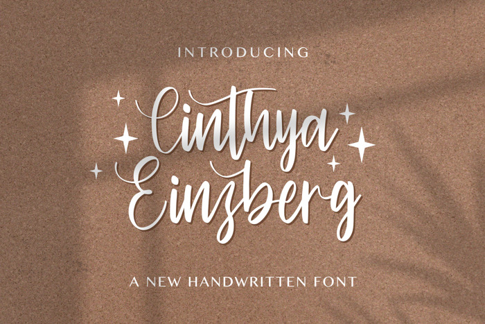 Cinthya Einzberg Font poster