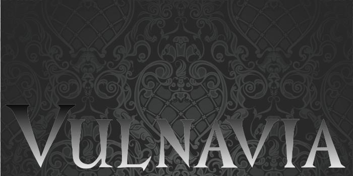 Vulnavia Font poster