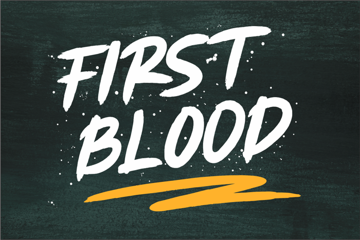 FIRST BLOOD Font poster