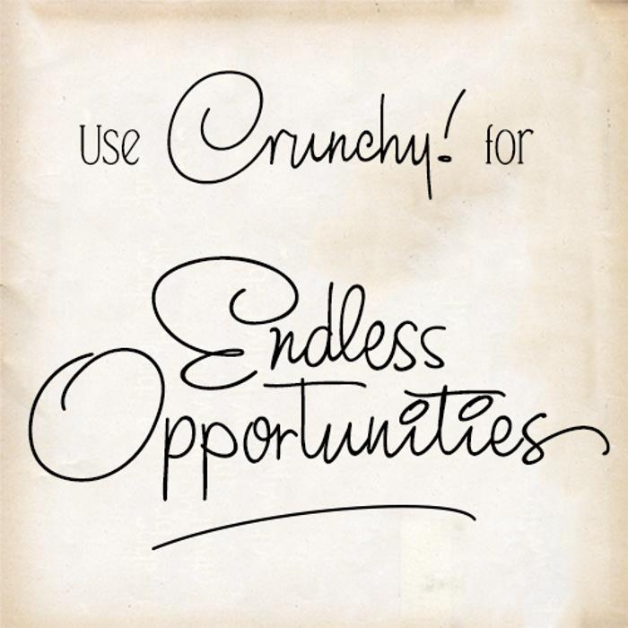 Crunchy Font poster