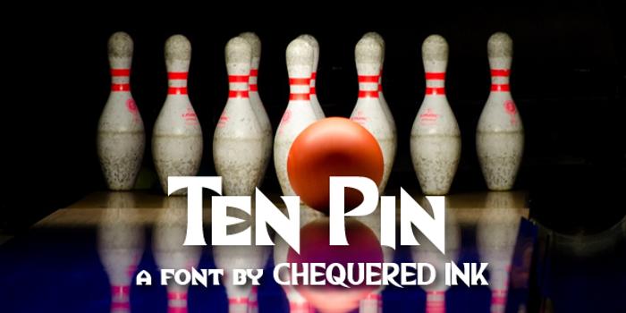 Ten Pin Font poster