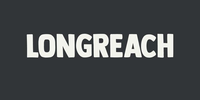 DK Longreach Font poster