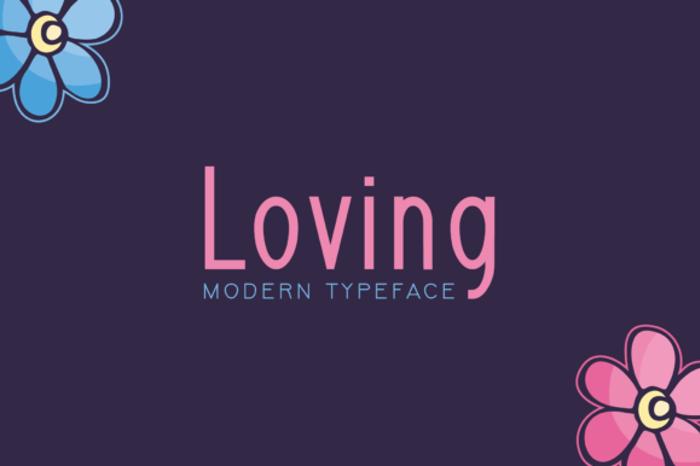 Loving Font poster