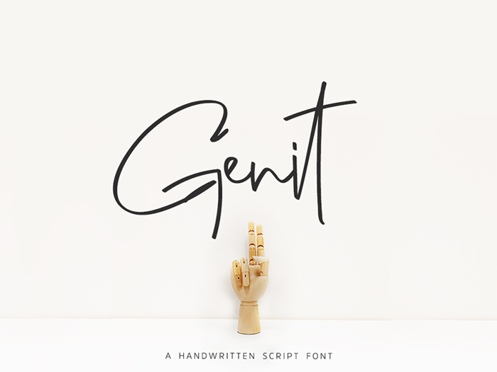 Genit Font poster