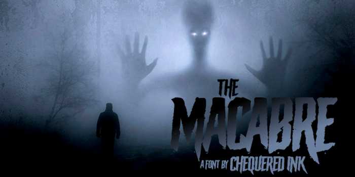 The Macabre Font poster