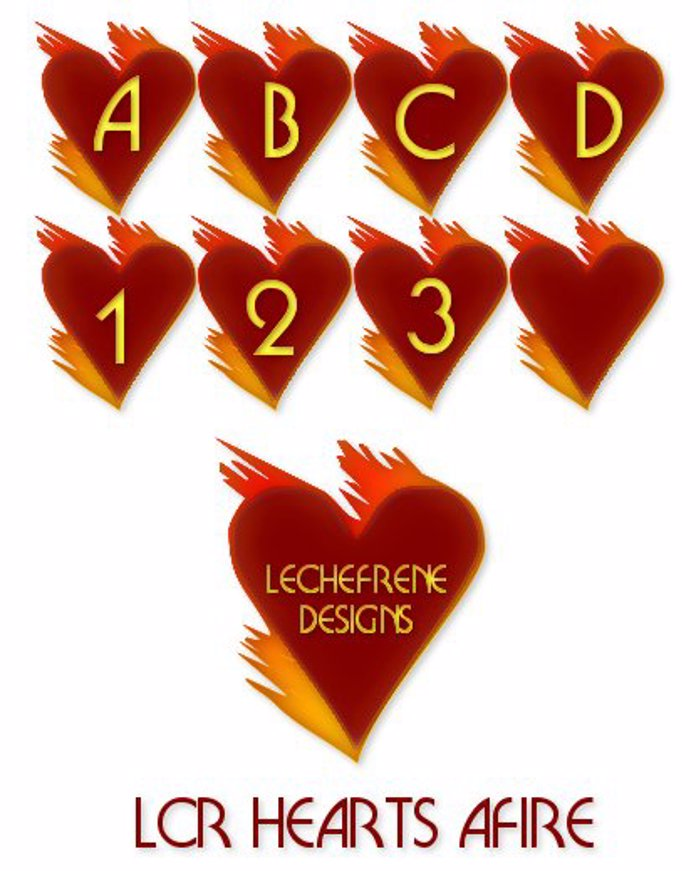 LCR Hearts Afire Font poster