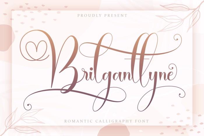 Brilganttyne Script Font poster