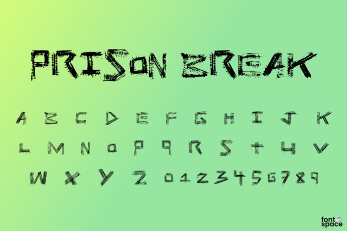 Prison Break Font poster