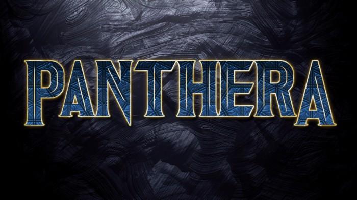 Panthera Font poster