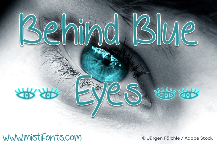 Behind Blue Eyes Font poster