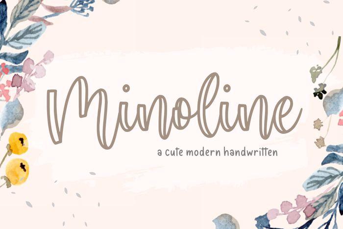 Minoline Font poster