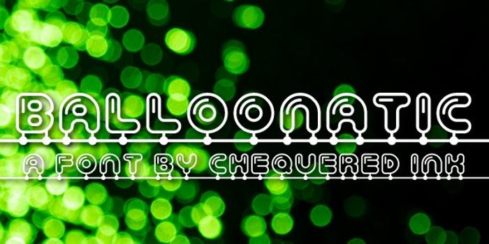 Balloonatic Font poster