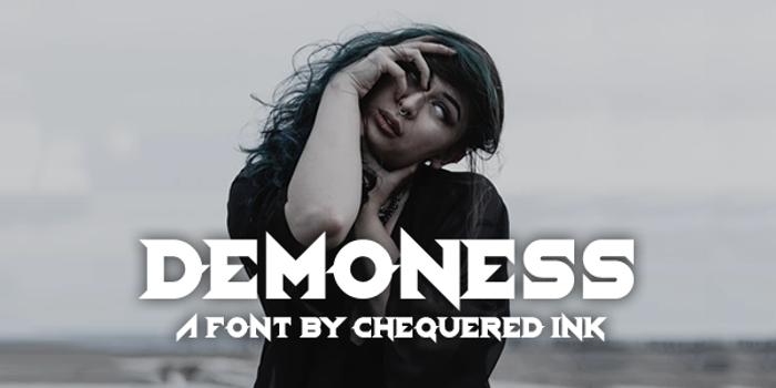 Demoness Font poster