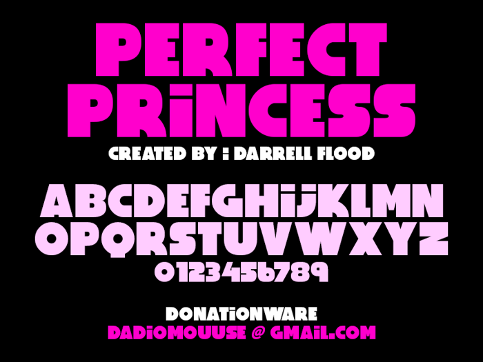 Perfect Princess Font poster
